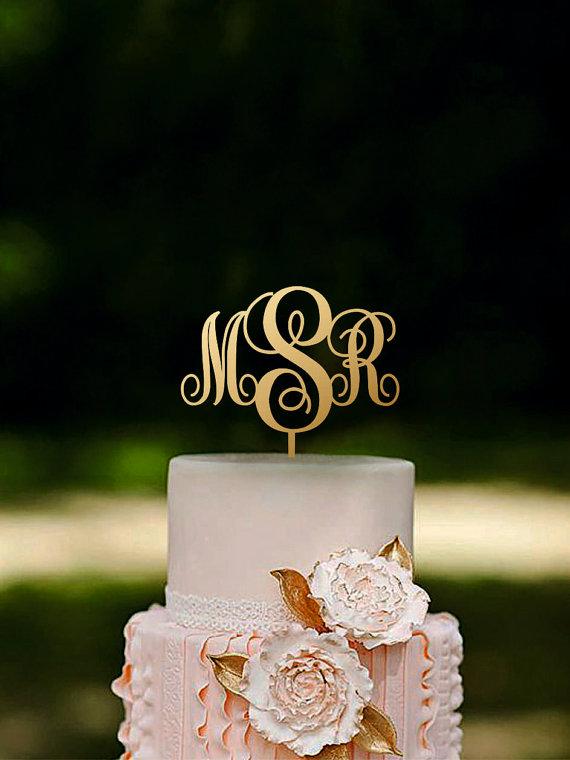 tulsa wedding venues monogram cake topper