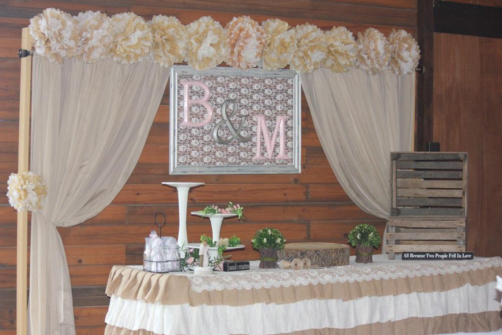 tulsa wedding venues cake table