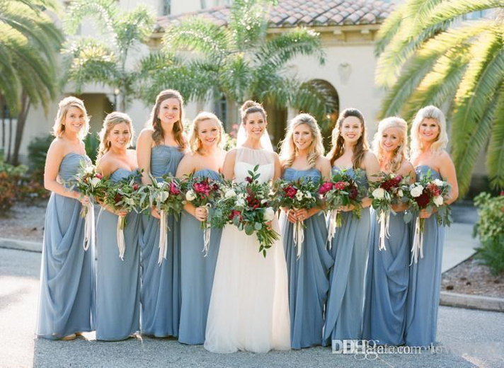 cc588d51e53 Dusty Blue is a beautiful shade of blue that is sure to be seen plenty this  season at all the popular Tulsa wedding venues. Its darker hues with subtle  ...